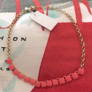 Kate Spade NWT Coral Squared Away Necklace
